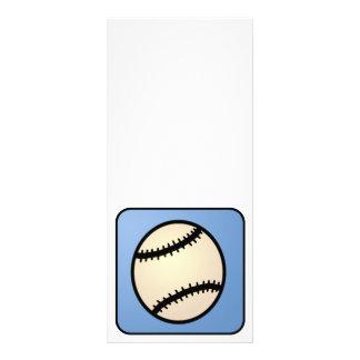 Cartoon Clip Art Sports, Baseball, Blue Background Customized Rack Card
