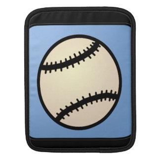 Cartoon Clip Art Sports, Baseball, Blue Background Sleeve For iPads