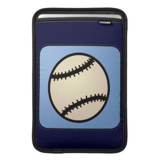 Cartoon Clip Art Sports, Baseball, Blue Background Sleeves For MacBook Air
