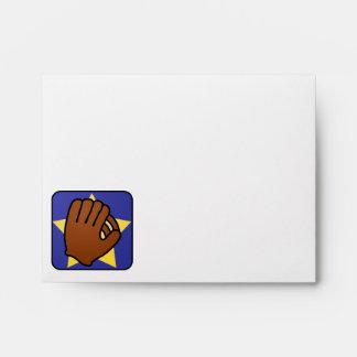 Cartoon Clip Art Sports Baseball Glove Gold Star Envelope