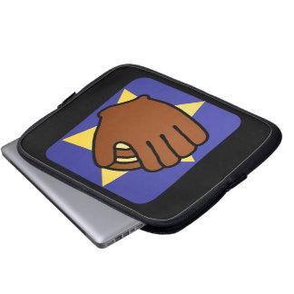 Cartoon Clip Art Sports Baseball Glove Gold Star Laptop Computer Sleeve