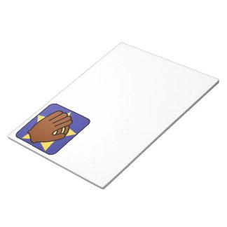 Cartoon Clip Art Sports Baseball Glove Gold Star Notepad