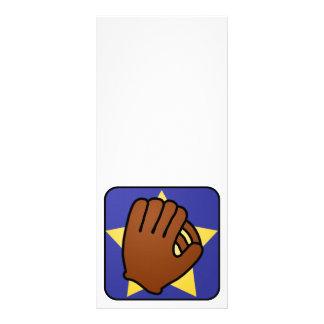 Cartoon Clip Art Sports Baseball Glove Gold Star Custom Rack Cards