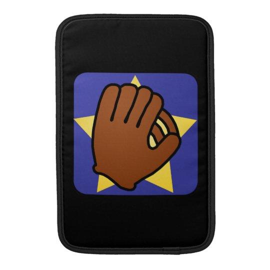 Cartoon Clip Art Sports Baseball Glove Gold Star Sleeve For MacBook Air