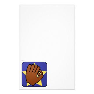 Cartoon Clip Art Sports Baseball Glove Gold Star Stationery