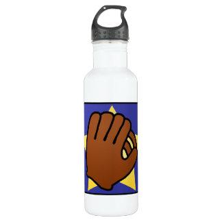 Cartoon Clip Art Sports Baseball Glove Gold Star Water Bottle