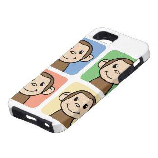 Cartoon Clip Art with 4 Happy Monkeys iPhone SE/5/5s Case