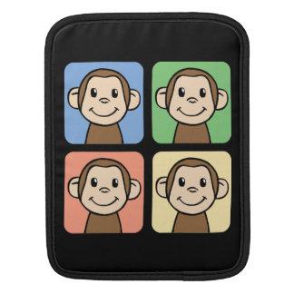 Cartoon Clip Art with 4 Happy Monkeys Sleeve For iPads