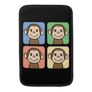 Cartoon Clip Art with 4 Happy Monkeys Sleeve For MacBook Air