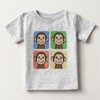 Cartoon Clip Art with 4 Happy Monkeys Tee Shirt