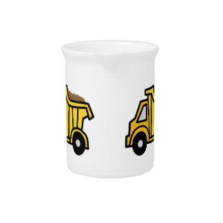 Cartoon Clip Art with a Construction Dump Truck Beverage Pitcher