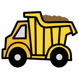 Cartoon Clip Art with a Construction Dump Truck Cutout