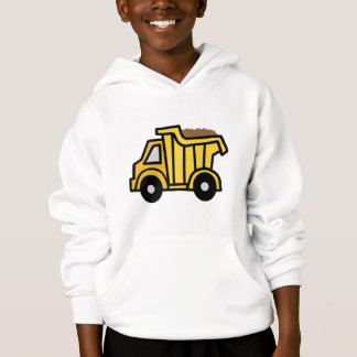 Cartoon Clip Art with a Construction Dump Truck Hoodie