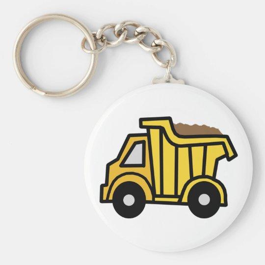 Cartoon Clip Art with a Construction Dump Truck Keychain