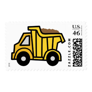 Cartoon Clip Art with a Construction Dump Truck Stamps