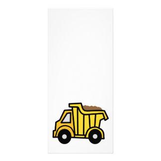 Cartoon Clip Art with a Construction Dump Truck Full Color Rack Card