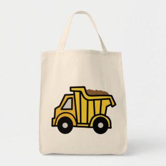 Cartoon Clip Art with a Construction Dump Truck Tote Bag