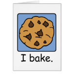 Cartoon Clip Art Yummy Chocolate Chip Cookie Cards