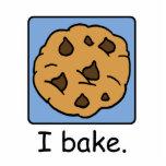 "Cartoon Clip Art Yummy Chocolate Chip Cookie Cutout<br><div class=""desc"">Cartoon food clip art with a yummy chocolate chip cookie dessert and the words &quot;I bake.&quot;</div>"