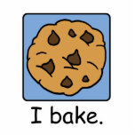 "Cartoon Clip Art Yummy Chocolate Chip Cookie Cutout<br><div class=""desc"">Cartoon food clip art with a yummy chocolate chip cookie dessert and the words &quot;I bake.&quot;</div>"