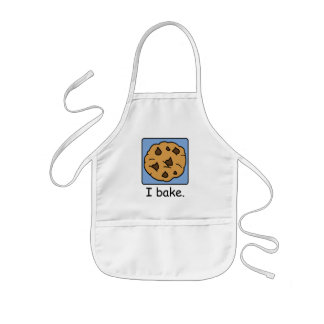 Cartoon Clip Art Yummy Chocolate Chip Cookie Kids' Apron