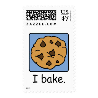 Cartoon Clip Art Yummy Chocolate Chip Cookie Postage
