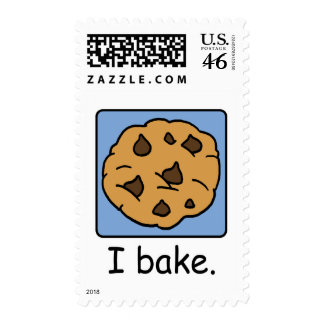 Cartoon Clip Art Yummy Chocolate Chip Cookie Postage Stamps