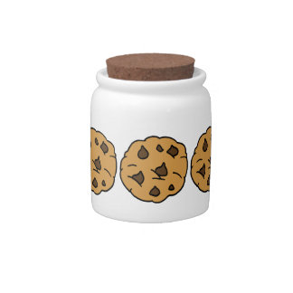 Cartoon Clipart HUGE Chocolate Chip Cookie Dessert Candy Dishes