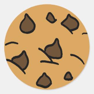 Cartoon Clipart HUGE Chocolate Chip Cookie Dessert Classic Round Sticker