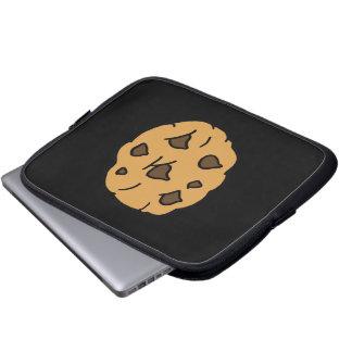Cartoon Clipart HUGE Chocolate Chip Cookie Dessert Computer Sleeve