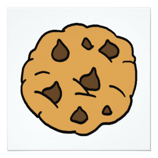 Cartoon Clipart HUGE Chocolate Chip Cookie Dessert Invitations