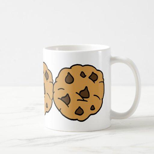Cartoon Clipart HUGE Chocolate Chip Cookie Dessert Classic White Coffee Mug