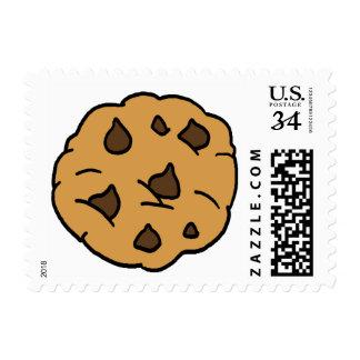 Cartoon Clipart HUGE Chocolate Chip Cookie Dessert Postage