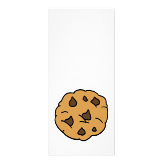 Cartoon Clipart HUGE Chocolate Chip Cookie Dessert Personalized Rack Card