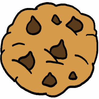 Cartoon Clipart HUGE Chocolate Chip Cookie Dessert Statuette