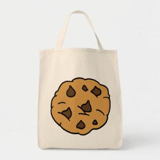 Cartoon Clipart HUGE Chocolate Chip Cookie Dessert Tote Bag
