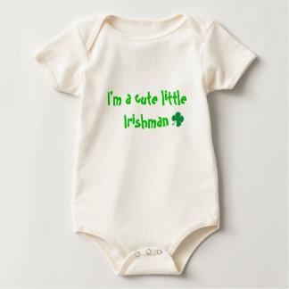 cartoon clover, I'm a cute little Irishman Romper