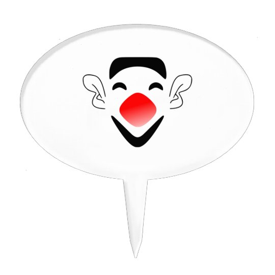 Cartoon Clown Face Cake Topper