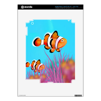 Cartoon clown fish iPad 3 decals