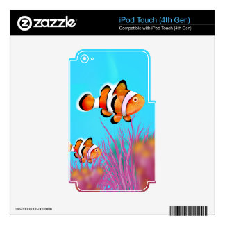Cartoon clown fish iPod touch 4G decals
