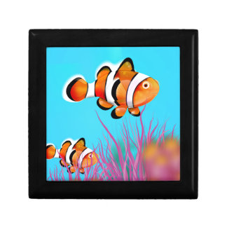 Cartoon clown fish jewelry box