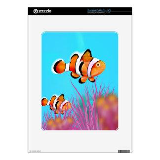 Cartoon clown fish skin for the iPad