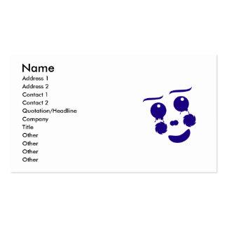 Cartoon clown fun shape face business card