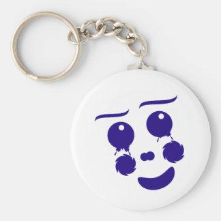 Cartoon clown fun shape face key chains
