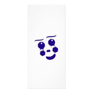 Cartoon clown fun shape face rack cards