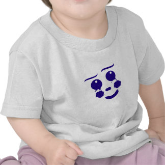 Cartoon clown fun shape face tee shirt