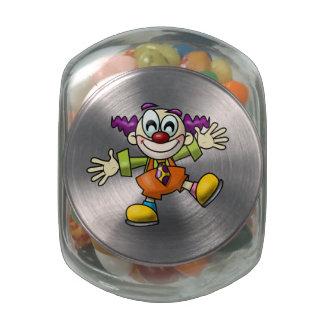Cartoon Clown Glass Jar