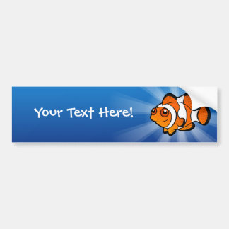 Cartoon Clownfish Bumper Sticker