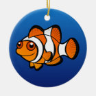 Cartoon Clownfish Ceramic Ornament