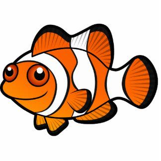 cartoon clownfish cutout